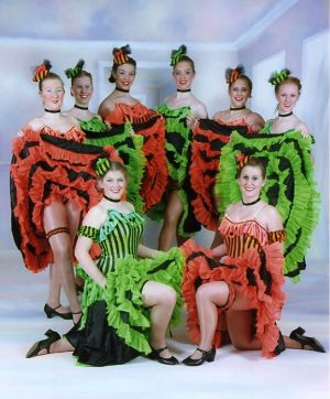 "Jon Anton Presents..our Very Own Troupe of CAN-CAN DANCERS... ""THE GAIETY GIRLS"""