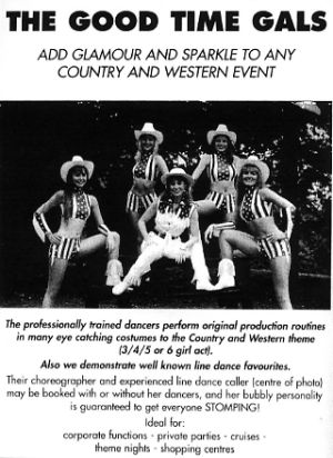 Jon Anton Presents...a number of groups of LINE DANCERS situated around the country available for Displays & Instruction.
