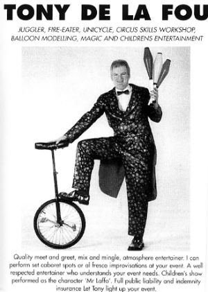Jon Anton Presents..a selection of UNICYCLISTS for a variety of events including Circus Holiday Centres, Promotions, Displays & Cabaret.